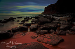 Burning Salt Beach (Karl Ruston) Tags: sea cliff beach clouds rocks yorkshire northyorkshire saltburnbythesea