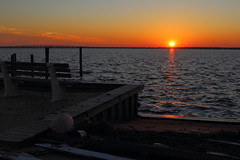 sunset trash (jmbrooks14) Tags: new sunset blackandwhite storm beach sandy hurricane nj jersey lavallette superstorm