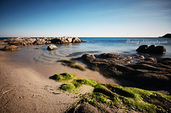 The Twilight Zone #9 (dhmig) Tags: longexposure sea france seaweed beach water relax seaside sand rocks europe peace tranquility calm sttropez transparency ramatuelle frenchriviera seawater lescalet transparentwater seaduringwintertime