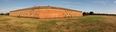 Pulaski outside southeast wall (zzazazz) Tags: autostitch panorama history ga georgia island war fort battle civil georga tybee artillery pulaski panorma cockspur