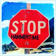 Awesome stop sign #stop #stopsign #mchammer #hammertime (Dhack55) Tags: stop stopsign mchammer hammertime uploaded:by=flickstagram instagram:photo=294302825077469123192234