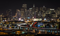 they say... | san francisco (elmofoto) Tags: sf sanfrancisco coyote longexposure sign northerncalifornia skyline night landscape nikon highway cityscape fav50 wildlife hill fav20 clear le embarcadero bayarea sanfran sfb
