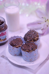 ( )      ..         (strawberrygraph) Tags: pink flower cookies milk bahrain bokeh chocolate notella braekfast bhphotography