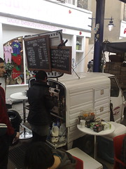 Coffee Piaggio, Greenwich, UK (BuonCuore) Tags: street food coffee car truck snacks van cart sales vending olsen concession grumman foodtruck stepvan streetsales