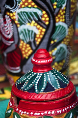 Colurful cay pot (Tapas Biswas) Tags: india abstract color colour art festival handicraft outdoors artwork hands nikon day image artistic market antique candid crafts creative culture craft fair claypot clay bengal handcraft artisticphotography westbengal d90 indianfestival indianculture abstractphotography creativephotography nikond90 indianfair nikod90 nikond9o