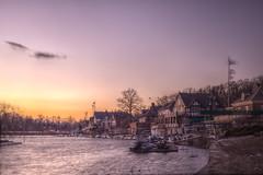 boathouserow3 (callmeflea) Tags: trees sunset philadelphia boats lights dusk rowing philly boathouse boathouserow rowers schuylkillriver