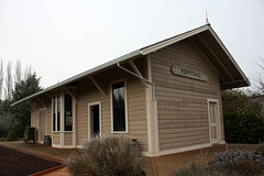 Restored former Oregonian Railway / Southern Pacific depot at Perrydale Oregon.  January 19 2013. (Dan Haneckow) Tags: narrowgauge southernpacific depots 2013 perrydale oregonianrailway