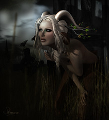 Hush (Kallisto Destiny) Tags: light dark 3d shadows emotions depth faun digitial doeadeer