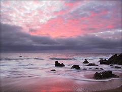 IMG_0850A(s10) Coastal Twilight (Bearheart Images) Tags: ocean longexposure pink sunset red sky seascape motion beach nature water rock clouds landscape coast movement lowlight surf waves pacific outdoor shore waterscape oceanscape