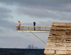 Above water (Bemijoca) Tags: bridge sea orange station sweden nuclear baltic malm barsebck vstra hamnen