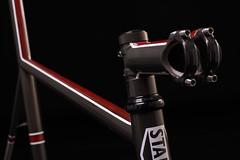 Stamming Titanium road bike (Christofer Salestam) Tags: bike cycling skne nikon cycle frame titanium ti malm strobe roadbike cykel d800 studiophotography cykling roadbikeframe stamming