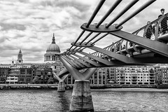 Crossing the Thames (Tony Scuvotti) Tags: england london millenium bridge st pauls cathedral thames river water outdoors nikon nikond750