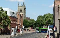 Wharncliffe Road, Ilkeston (Lady Wulfrun) Tags: wharnclifferoad ilkeston 20th july 2016 y264drc nottsderby 264 stmatus church marketsquare bus stop stops shelters erewash townhall council