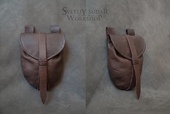 Mercenary's equipment - Leather Belt Bag (SvetliySudarWorkshop) Tags: brown leather bag handmade craft aging larp accessory mercenary beltbad svetliysudarworkshop