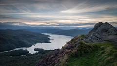 Loch Katrine from Ben A'an (Dylan Nardini) Tags: loch night summer uk aan katrine trossachs sunset nationalpark mountains ben stars hills sky scotland dusk