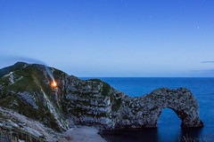 When your heart's on fire... (OR_U) Tags: 2016 oru uk dorset durdledoor night fire nightphotography stars theplatters smoke water sea blue