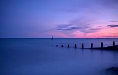 Last Light....... (hall1705) Tags: lastlight middleton westsussex d3200 dusk longexposure le sea seascape seaside shore beach breakwater groyne marker calm