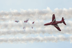 RAF Red Arrows (andyno43) Tags: red arrows flight stunts cranwell air show canon1dx canon 1dx ef festival lincolnshire outdoor