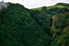 Waterfall Through the Woods (Nikki & Tom) Tags: devilsbridgerailway hills woods valleys forest wales uk
