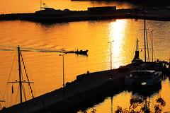 Rush Hour ................. Poros (Idreamofpies) Tags: sunrise sun light reflections poros kefalonia greece ionian islands morning am jetty yacht boat fisherman ripples