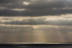 End of Day (No. 2) (Canadapt) Tags: sunset ocean godsrays cloud horizon minimal reflection sea clouds azenhasdomar portugal canadapt