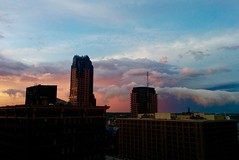 Hanging clouds (Marianna Gabrielyan) Tags: hanging clouds sunset colors colorful stpaul minnesota downtown building purple purplesky storm rain afterstorm