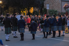 Sturday night pipers (thulobaba) Tags: scots scottish scotland pipers bagpipes band drums dornoch night tartan plaid kilt