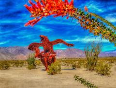 Eagle and Flower (Michael F. Nyiri) Tags: california southerncalifornia anzaborrego desert ricardobreceda art sculpture metalsculpture temeculacalifornia