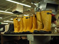 Peterson's Hardware (mattheuxphoto) Tags: petersonshardware lemont illinois lemontillinois hardware hardwarestore suburbanchicago closing store junkstore historic chicagoland boots yellow yellowboots rainboots
