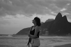 rio rio rio (Leticia Manosso) Tags: rio de janeiro ipanema beach woman black white monochrome preto e branco morro dois irmaos praia seaside lo fi summer