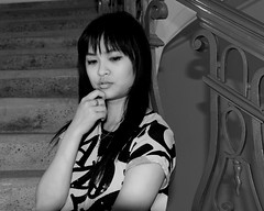 Photo Modeling (Prayitno / Thank you for (11 millions +) views) Tags: photo model modeling young cute cutie pretty beauty beautiful hot asian girl babe pose poses posing act action acting bw blackandwhite blackwhite monochrome stairs thinking indoor