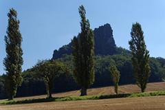 Lilienstein (Veit Schagow) Tags: lilienstein ebenheit pappeln landschaft landscape knigstein elbsandsteingebirge saxonyswiss
