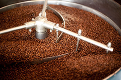 Roasting Coffee Beans (icoffeeandcafeshop) Tags: aroma aromatic background backgrounds bean beans black blur brown bulk caffeine coffee culture dark delicious espresso food fresh gourmet hot machine motion production roast roasted roastery rustic scented shop small store texture tool traditional roaster cool