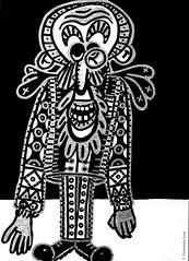 Cor de monstre 08 (Fernando Laq) Tags: monster monstruo monstre dibujo dibuix bn grises
