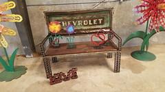 Repurposed Furniture Bench (Raymond Guest) Tags: gardenbench recycledart gardenideas garden gardening gardenfurniture outdoorgarden