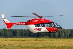 DRF Luftrettung HSD D-HDSC (U. Heinze) Tags: haj hannoverlangenhagenairporthaj hubschrauber eddv planespotting nikon nikon28300mm