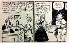 excerpt, Winnie Winkle comic, LA Daily News July 15, 1954 (bunky's pickle) Tags: newspapers illustrations 1954 comicbooksstripsetc losangelescalif
