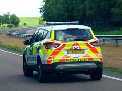 Photo of LX13 DFO - Ford Kuga 2.0L 140PS Zetec - British Transport Police, D Divison, Scotland.