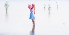 Lacus Clyne (without PS) (bdrc) Tags: asdgraphy lacus clyne gundam seed anime cosplay girl portrait sea beach coast shore bella haro sepang avani water minolta 75300mm f4556 tele zoom sony a6000 alpha