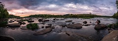 Taking it all in (cpjRVA) Tags: landscape nature water river panoramic pano sunset ponypasture virginia richmond jamesriverparksystem jamesriver jrps va rva leica leicaq