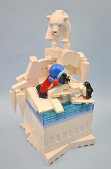 The Wildlife Photographer (MinifigNick) Tags: polar ice polarbear penguin lego series16 minifig minifignick afol vignette iceberg