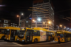 Lambton Interchange - Wellington Station (andrewsurgenor) Tags: transit transport publictransport nzbus gowellington electric trackless trolleybus trolleybuses wellington nz streetscenes bus buses omnibus yellow obus busse citytransport city urban newzealand