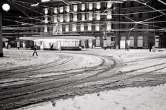 z u r i c h . p a r a d e p l a t z (Toni_V) Tags: city schnee bw snow cold monochrome station schweiz switzerland dof suisse zurich rangefinder zürich goodmorning 2012 bahnhofstrasse m9 creditsuisse paradeplatz vbz summiluxm 35mmf14asph 35lux messsucher flickraward ©toniv 121208 leicam9 lightroom341 l1009997