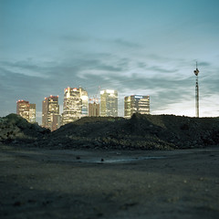 Mirage (kenny ip) Tags: longexposure urban london 120 6x6 film night mediumformat industrial greenwich hasselblad fujifilm carlzeiss 501cm 160s 80mmf28 planart 160ns pro160ns kennyip