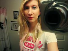 blonde girl Tall shower