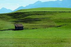 Bavaria (saxonfenken) Tags: mist mountain green field grass barn landscape ruleofthirds gamewinner 6873 friendlychallenges storybookwinner day12riva 6873land