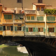 The Old Bridge - Ponte Vecchio in Florence (B℮n) Tags: park santa old city travel bridge trees summer vacation italy panorama holiday money hot streets tower art history weather gardens museum del river magazine gold florence italian topf50 europe italia gallery view bell maria churches tourist panoramic medieval ponte campanile explore palmtrees tuscany da vista firenze fl leonardo uffizi arno michelangelo viewpoint fiore toscane vinci topf100 piazzale renaissance oldest cultural boboli brunelleschi vecchio florentine cathdral florijn bankers uffizimuseum giottos florin 100faves 50faves panview binoculaur