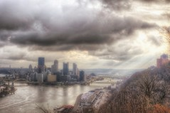 Light rays fight through the clouds from the West End Overlook in Pittsburgh HDR (Dave DiCello) Tags: beautiful skyline photoshop nikon pittsburgh tripod usxtower christmastree mtwashington northshore northside bluehour nikkor hdr highdynamicrange pncpark thepoint pittsburghpirates cs4 ftpittbridge steelcity photomatix beautifulcities yinzer cityofbridges tonemapped theburgh clementebridge smithfieldstbridge pittsburgher colorefex cs5 ussteelbuilding beautifulskyline d700 thecityofbridges pittsburghphotography davedicello pittsburghcityofbridges steelscapes beautifulcitiesatnight hdrexposed picturesofpittsburgh cityofbridgesphotography