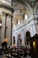 Barrel Ceiling (Jocey K) Tags: people italy sculpture rome building art church architecture design candles patterns paintings columns ceiling marble benches hoilday marblecolumns barrelceiling candelsticks sanmarcelloalcorso