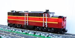 GM&O PA nose (swoofty) Tags: train lego pa gmo alco gulfmobileohio americanfreedomtrain